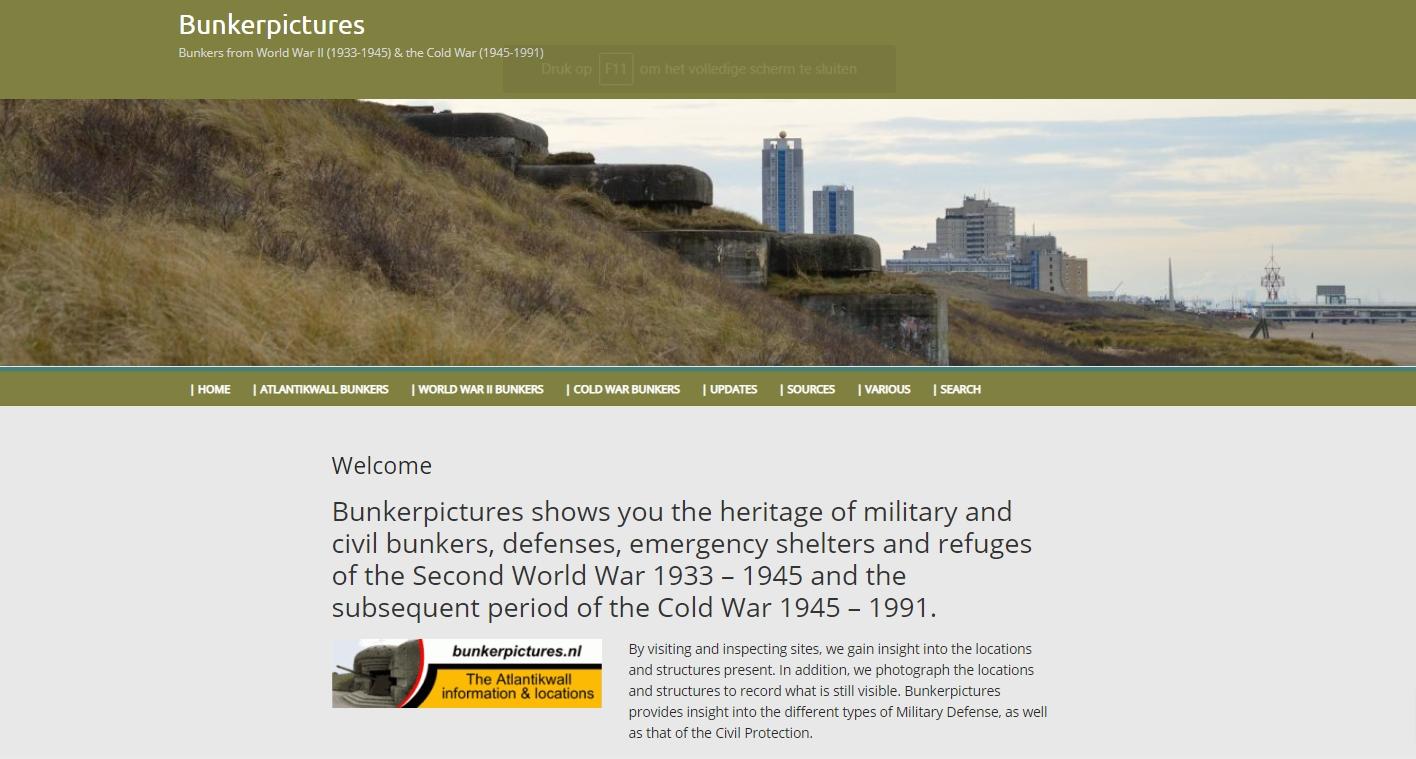 Screenshot www.bunkerpictures.nl